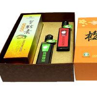 有机梅宴芳礼盒-(黄梅红曲酵素+有机黄梅和风酱+有机梅精酱油)【经台湾农会优质认证产品】