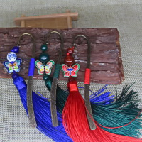 古风金属书签复古典中国风流苏创意文艺女生日可爱定制刻字小礼物