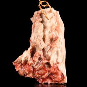 《特大五花肉寿山写实摆件》三彩寿山石取全手工写实精雕可做品种石