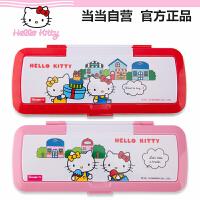 HelloKitty凯蒂猫 KT85053 时尚笔盒(颜色图案随机)笔袋创意文具袋文具盒铅笔盒幼儿园小学生用学习办公文