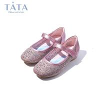 【3折价:161.4元】tata女童皮鞋2020春季新款冰雪奇缘公主鞋中小童演出单鞋水晶鞋女