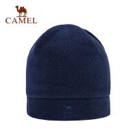camel骆驼户外抓绒帽 简约休闲防风保暖运动抓绒帽子