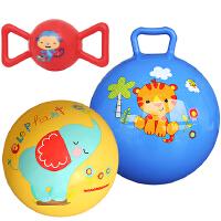 【当当自营】费雪(Fisher Price)儿童玩具球三合一(摇铃球红色+9寸拍拍球黄色+10寸摇摇球蓝色 送打气筒)