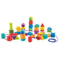 穿珠子积木玩具1-2-3岁男孩女孩儿童奇妙串珠套 宝宝