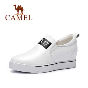 Camel/骆驼女鞋  时尚单鞋 舒适休闲内增高单鞋