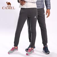 camel骆驼情侣运动裤 宽松跑步健身瑜伽男女针织长裤