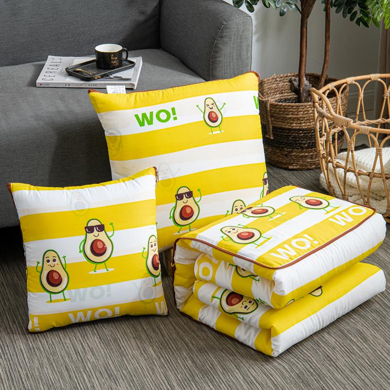 被窝窝新款精梳棉系列多功能 抱枕被 靠枕