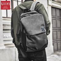 大学生韩版休闲双肩背包电脑包男士双肩背包时尚潮流书包
