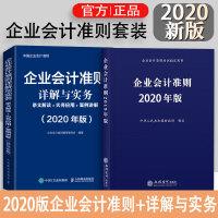 【抢先预订】企业会计准则套装/2020新版企业会计准则+企业会计准则详解与实务全2册 2020企业会计准则培训教材 条