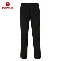 Marmot/土拨鼠秋冬款防泼水加厚耐磨透气保暖M1男士软壳裤