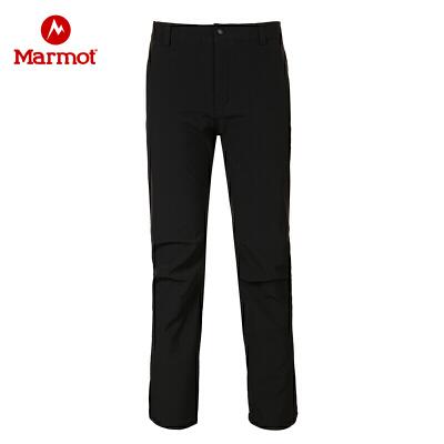 Marmot/土拨鼠秋冬款防泼水加厚耐磨透气保暖M1男士软壳裤 VIP专享96折