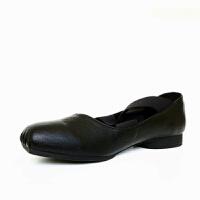 芭蕾舞鞋女平底2019秋季仙女交叉绑带单鞋晚晚方头复古奶奶鞋 黑色 升级版 标准码 34