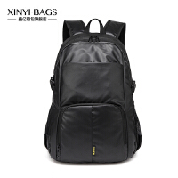 时尚电脑包双肩包新款男士旅行背包学生休闲书包