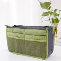 包中包内胆包收纳袋化妆包便携洗漱袋女包手拿收纳包带拉链整理包撑包中包收纳包 绿色
