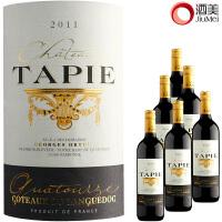 酒美网原瓶进口干红红酒整箱法国塔碧堡干红葡萄酒