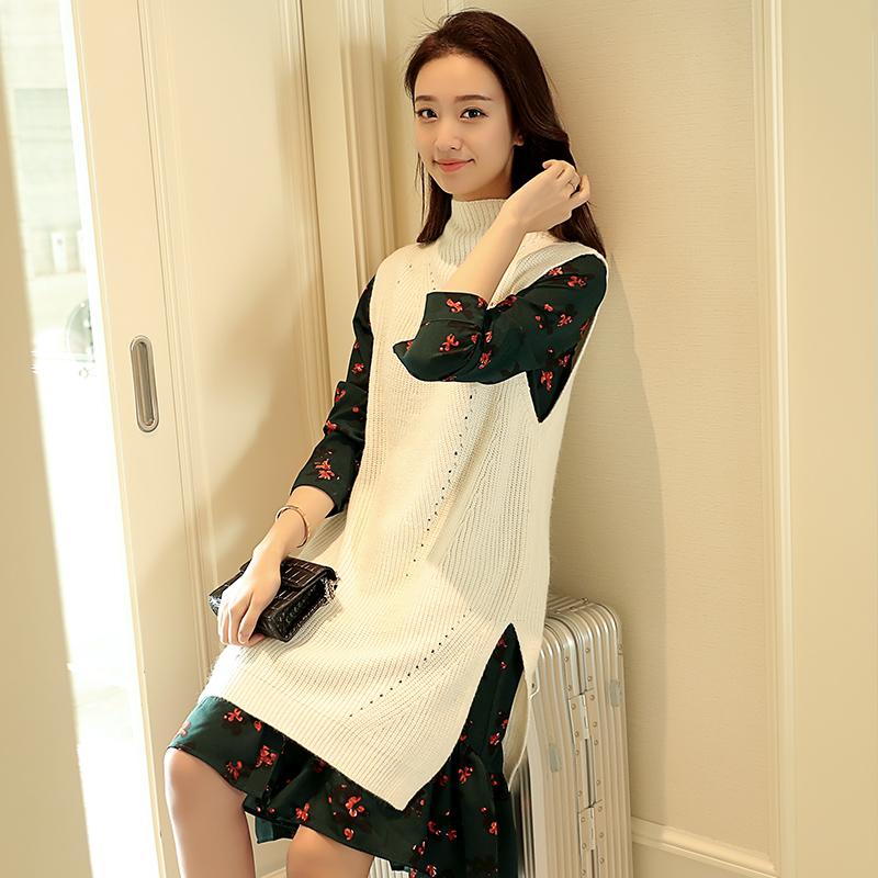 新款韩版时尚百搭显瘦潮流针织马甲韩版宽松显瘦针织背心