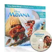【中商原版】海洋奇缘 英文原版 Moana Read-along(书+CD)迪士尼独立阅读系列 阅读学习英语辅助图画书