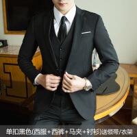 青少年外套男士西服套装三件套青少年韩版单西外套男正装职业修身新郎小西装