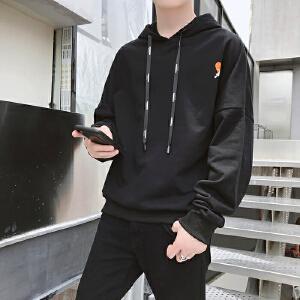2018新款卫衣男连帽韩版潮流学生宽松休闲运动个性长袖套头
