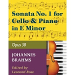 预订 Brahms, Johannes - Sonata No. 1 in e minor Op. 38 for Ce