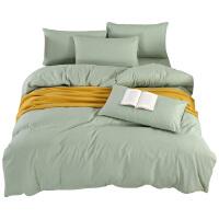 被窝窝家纺纯色双拼简约大方三件套四件套 床单 枕套 被套