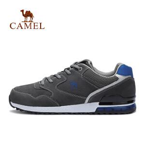 camel骆驼运动男款越野跑鞋 防滑透气舒适低帮系带跑步鞋