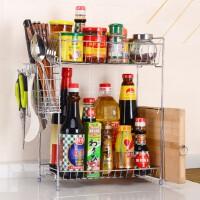 全国包邮 双层不锈钢调料架 刀架调味架厨房用具 置物收纳架