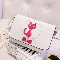 夏季新款韩版绚彩女士长款可爱猫咪手机包斜挎包单肩包包 女 B-trs-1285