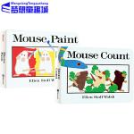 英文原版 Mouse Count/Mouse Paint系列 2册 吴敏兰绘本123 少儿儿童启蒙绘本 纸板书