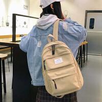 大学生森系潮牌书包女韩版高中大容量古着感少女双肩背包
