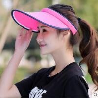 防紫外线遮阳帽韩版休闲防晒帽户外新款空顶帽运动休闲男女鸭舌帽子时尚简约纯色