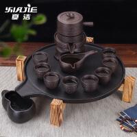 紫砂懒人石磨功夫家用陶瓷石茶盘简约整套半全自动茶具套装