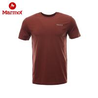 Marmot/土拨鼠户外运动男士个性背部印花T恤