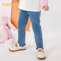 【2件6折价:74.9】巴拉巴拉女童裤子儿童牛仔裤秋装2021新款宝宝长裤小童外穿洋气潮