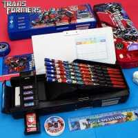 小学生文具盒变形金刚塑料双面男童多功能铅笔盒儿童男孩韩国创意
