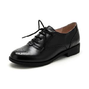 【3折到手价149.7元】Fondberyl/菲伯丽尔牛皮尖头低跟套脚纯色秋深口女鞋FB63113632