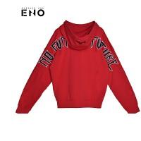 BURANDOENO潮牌2018款男式卫衣开衫字母印花外套虎头上衣E18P21MKZ039