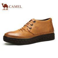 camel 骆驼男靴 头层皮系带男靴 秋季新款英伦短筒靴子