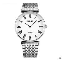 商务表 男防水石英情侣表潮流女士手表时尚个性薄壳钢带腕表