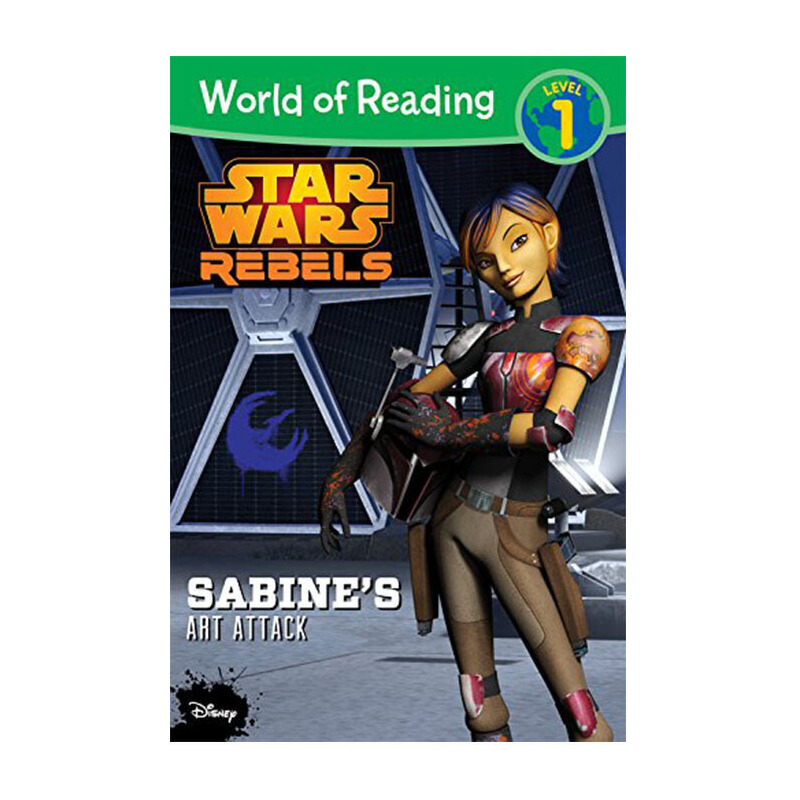 【中商原版】英文原版 World of Reading Star Wars Re bels: Sabine's Art Attack: Le el 1 阅读世界