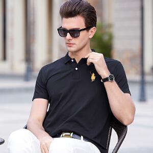 2019夏季男短袖t恤青年商务休闲男士宽松珠地棉体恤纯棉翻领POLO衫潮