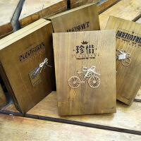 创意复古木盒同学录唯美个性活页留言册盒装学生毕业纪念册80张 款式随机发货