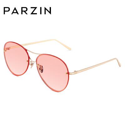 帕森2018新品时尚太阳镜女士金属大框炫彩尼龙镜片蛤蟆镜潮人墨镜9785