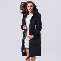 2017年冬季新品时尚显瘦中长款羽绒服女拉链修身TB17736