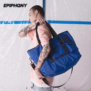Epiphqny2018新款原创时尚休闲单肩包短途旅行健身防水手提斜挎包