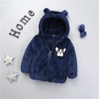 儿童装宝宝秋冬装男童加绒棉衣外套4婴儿1小童2衣服0-3周岁韩版潮
