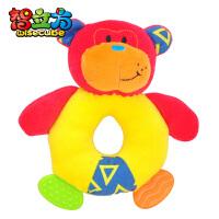 特宝儿小小狮小小猴婴儿牙胶玩具 手抓牙胶摇铃毛绒宝宝玩具0-1岁玩具
