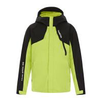 探路者童装秋冬新款防雨防水耐磨保暖二合一冲锋衣