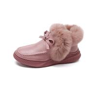 【到手价:219.2元】百丽Belle童鞋女童靴子2019冬季新款儿童防滑休闲靴室外加绒保暖雪地靴(3-15岁可选)D