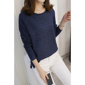 2017韩版秋季新款女装针织衫毛衣半高圆领长袖套头毛针织衫女